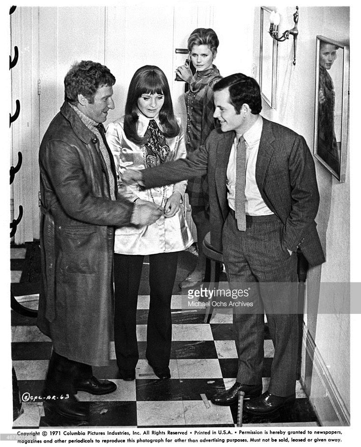 Clive Revill, Jennie Linden, Lee Remick and Ian Holm in A Severed Head, 1970