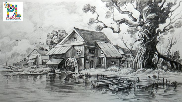 pencil scenery drawing easy draw shade drawings landscape sketches shading landscapes simple watercolor beginners cool paintings pen