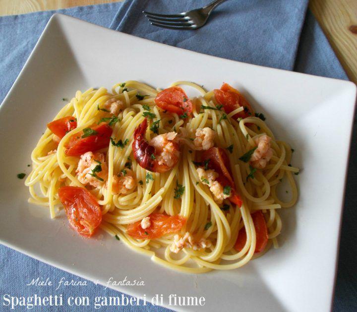 #spaghetti al sugo di #gamberi di fiume #ricetta #recipe #pasta #primopiatto