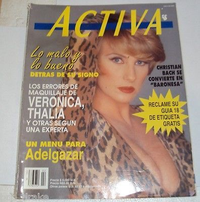 1992 Activa Magazine Christian Bach Maria Felix Helena Rojo Charles Atlas | eBay