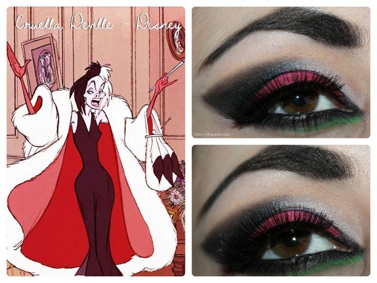 disney inspired makeup | Disney Makeup Series : Cruella Deville Inspired ~ Luhivy's favorite ...