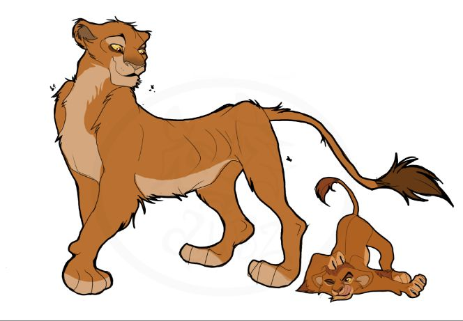 Choyo and his Mother, Aza. | Lion king outlanders ...
