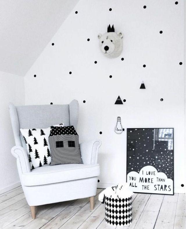 Bedroom Black And White Scandi