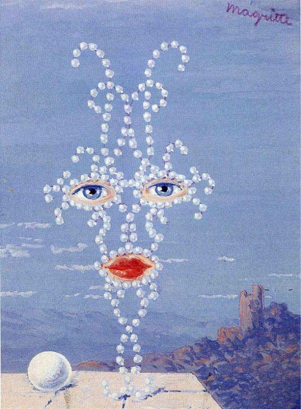 Reproduction de Magritte, Sheherazade. Tableau peint à la main dans nos ateliers. Peinture à l'huile sur toile.