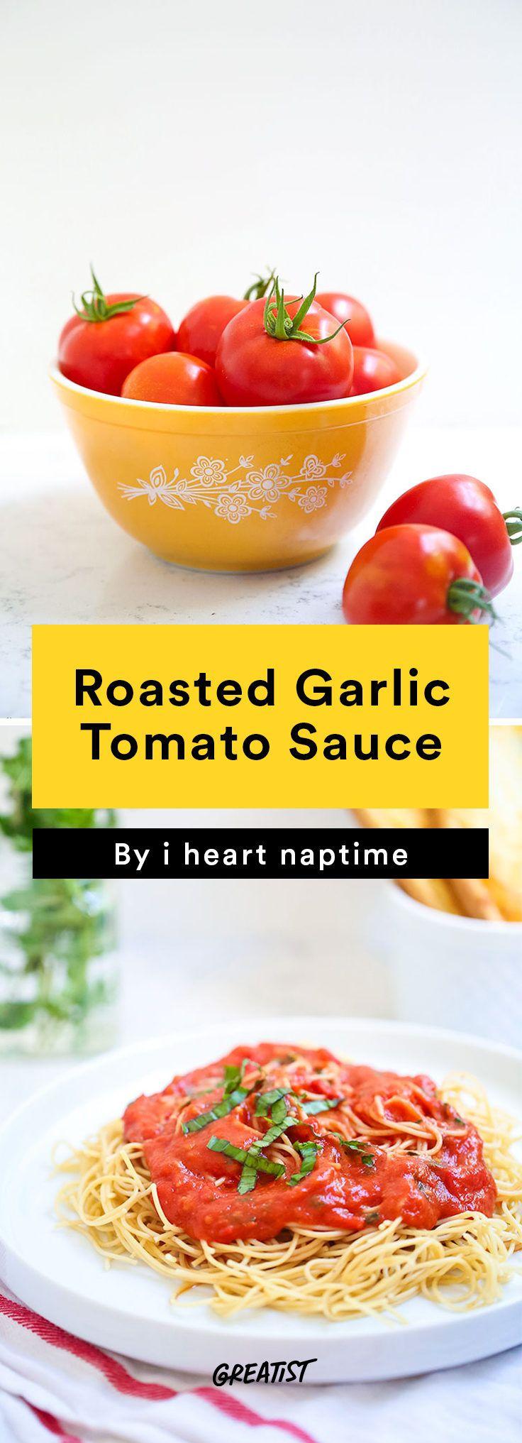 3. Roasted Garlic Tomato Sauce #greatist http://greatist.com/eat/homemade-tomato-sauce-recipes