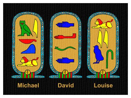 Design your own ancient Egyptian cartouche (also includes instructions for hieroglyphic names)