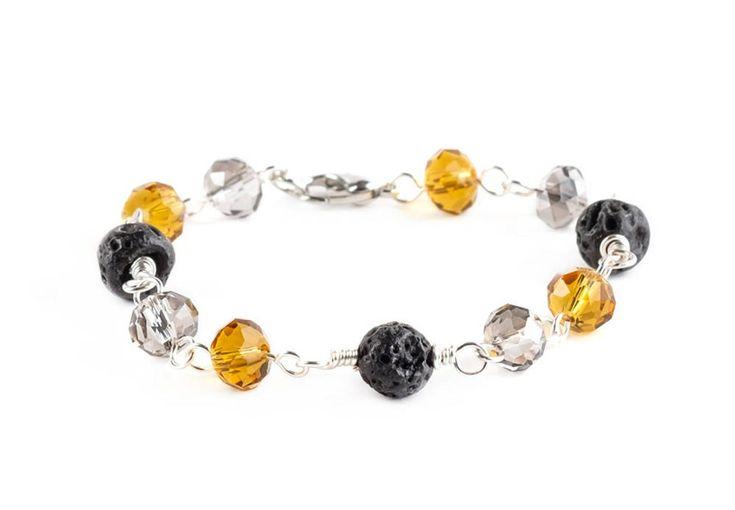 Lava Stone Wire Wrapped Bracelets Handmade Jewelry, Boho Beaded Bracelet for Woman, Delicate Bracelet for Bridesmaid Gift, Beads Bracelet – All things Handmade
