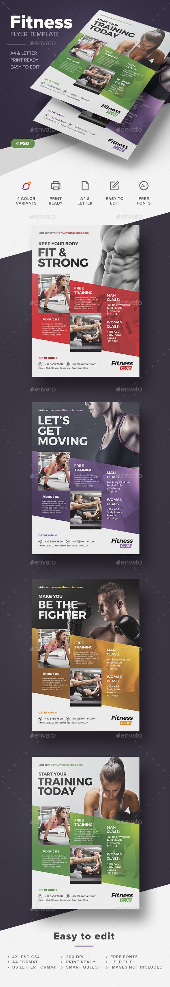 Fitness / Gym Flyer Template #design Download: http://graphicriver.net/item/fitness-gym-flyer-template/12464683?ref=ksioks