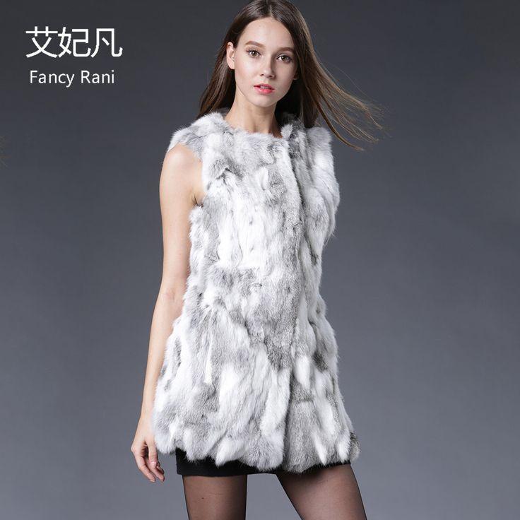 Real Fur Vest Women Rabbit Fur Vest Real Fur Coats For Women Winter Autumn Brand Sale Fur Vest Coat Fashion Outwear High Quality