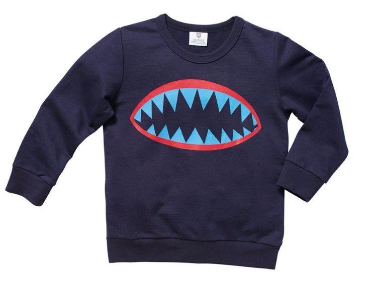 Wear Kids Play - Hootkid | Bite Me Sweat, $39.95 (http://www.wearkidsplay.com.au/products/hootkid-bite-me-sweat.html/)