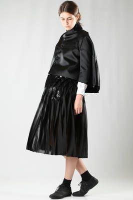 cape jacket in polyester sateen - JUNYA WATANABE