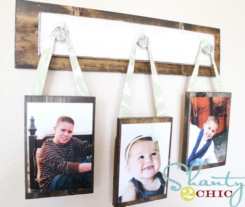 Photo wall hanging: Photo Display, Hanging Pictures, Wall Hanging, Doors Knobs, Photo Wall, Display Pictures, Pictures Hangers, Display Photo, Photo Hangers