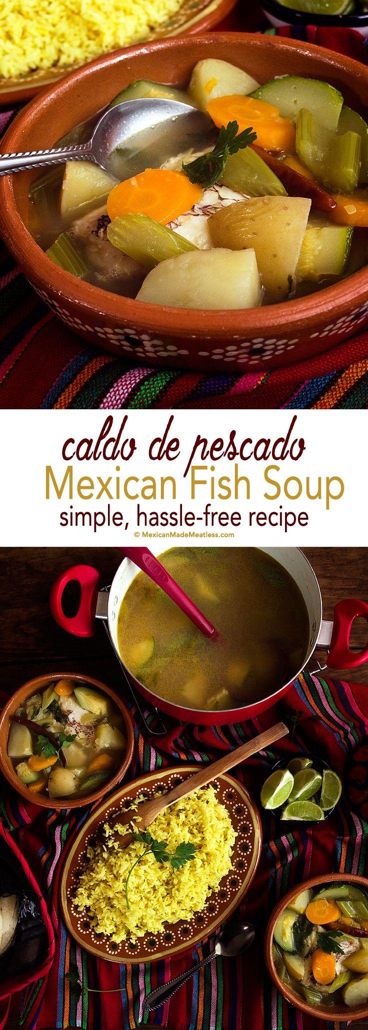 Simple, Hassle-Free #Mexican Fish Soup | Caldo De Pescado Muy Sencillo | #fish #soup #caldo #pescetarian #pescatarian #pescatarianism
