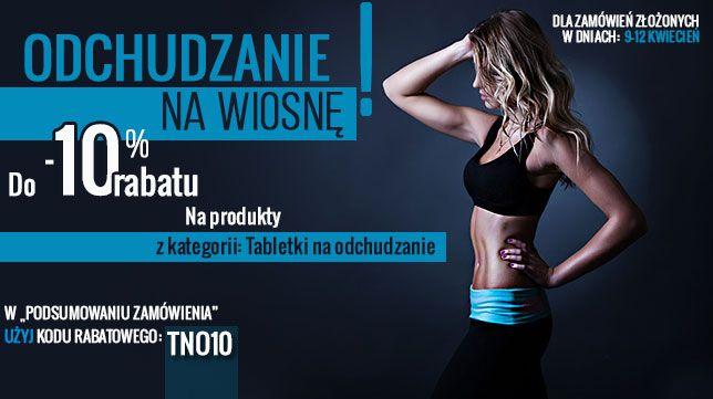 10% upustu na odżywki z kategorii Tabletki na Odchudzanie. W podsumowaniu zamówienia wpisz kod specjalny TNO10. Akcja promocyjna do 12-go kwietnia. http://www.kulturystyka.sklep.pl/