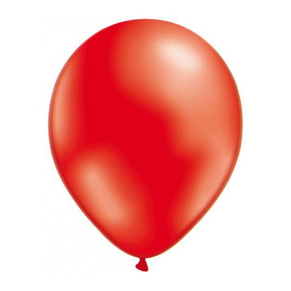 50 Ballons Métalliques - Rouge #Ballonsfêtes #Sculpturesurballons