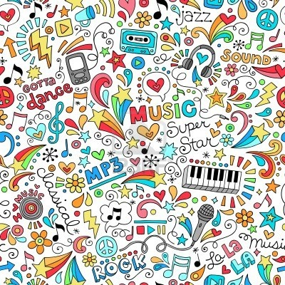 Music Groovy Doodles Vector Illustration Hand-Drawn Design Elements Stock Photo - 17164989