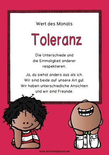 Werte im Unterricht: Toleranz