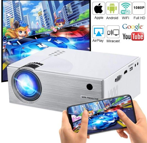 Features Highlight Wifi Projector 2600 Lumens Diwuer Mini Portable Video Projectors Wifi Directly Connect Smartphones F Video Projector Dvd Player Projector