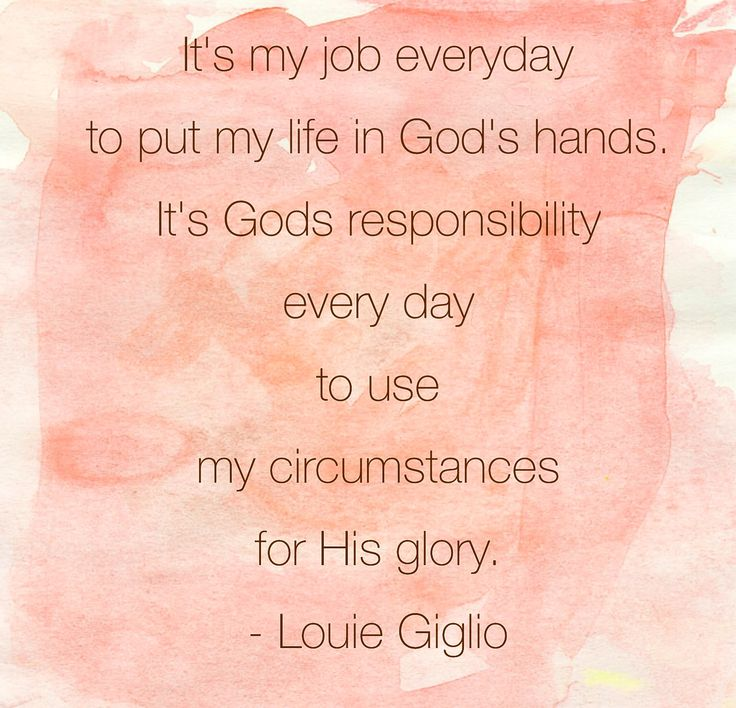 Louie Giglio quote. Inspiring! God can use whatever happens in my life for His glory. :)