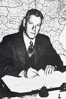 Hendrik Verwoerd (South African professor, newspaper editor and Prime Minister of South Africa from 1958 until his assassination in 1966)