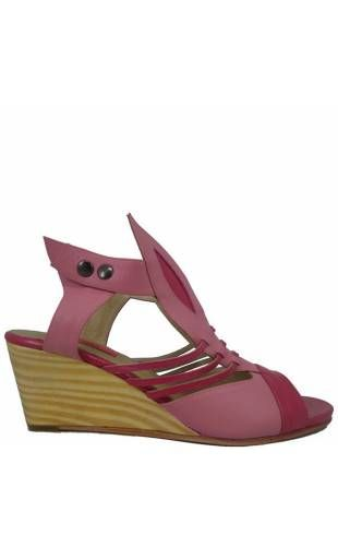 Shoes woman out of leather DIANINI Pink