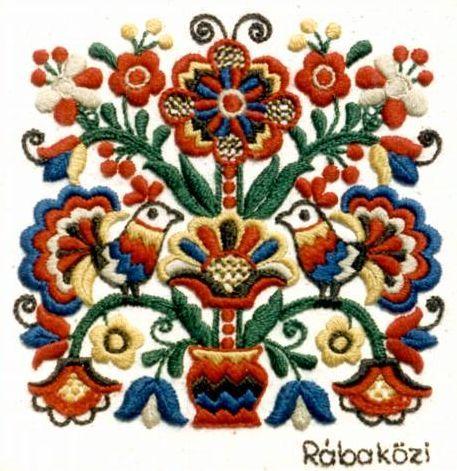 Hungarian embroidery, Rabakoz.