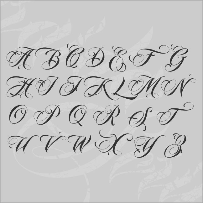 cursive letters for tattoos fancy script fonts search fonts 2992