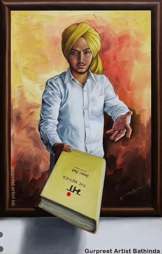 real depiction of bhagat singh by gurpreet artist bathinda