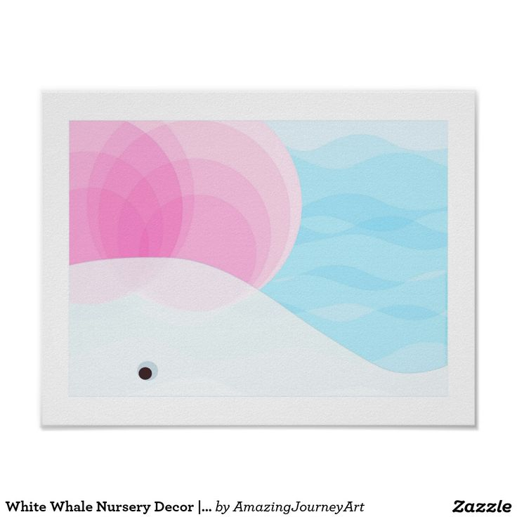 White Whale Nursery Decor   Pink, White and Blue