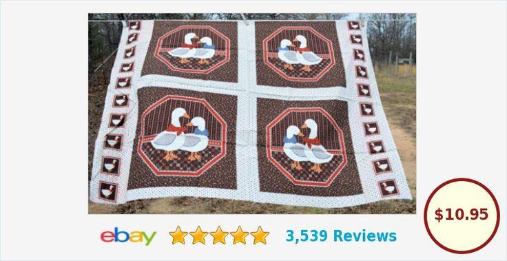 Ducks fabric panel for making throw pillows | eBay #cranston #Ducks