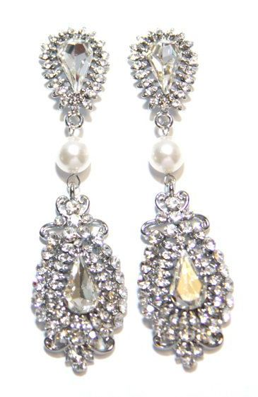 Grace Wedding Bridal Earrings Vintage Hollywood