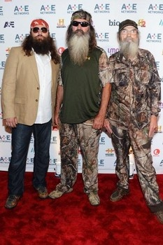 The Robertson family from Duck Dynasty on A