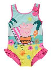 Peppa Pig Beach Print Swimsuit AT GEORGE ASDA