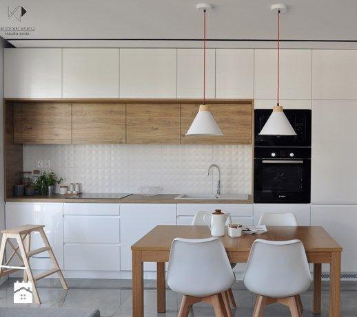 Realizacja - Mieszkanie 50m2,Kraków - Kuchnia, styl nowoczesny - zdjęcie od architekt.klaudia.pniak