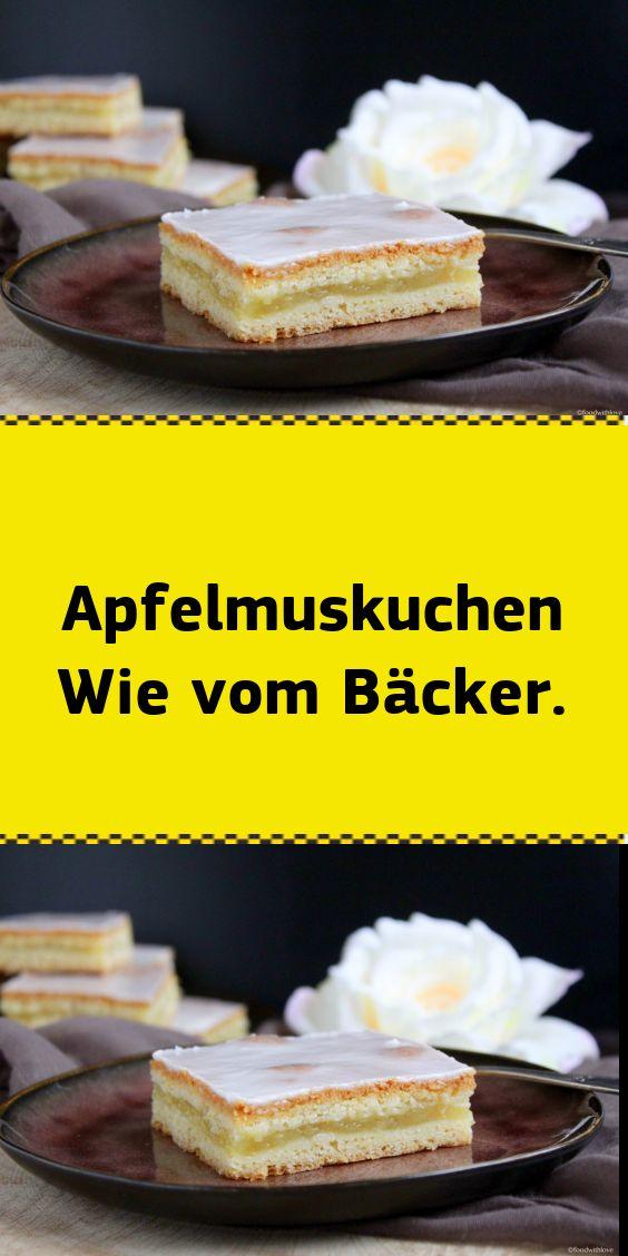 Apfelmuskuchen Wie vom Bäcker.   – deutsche Kuchen