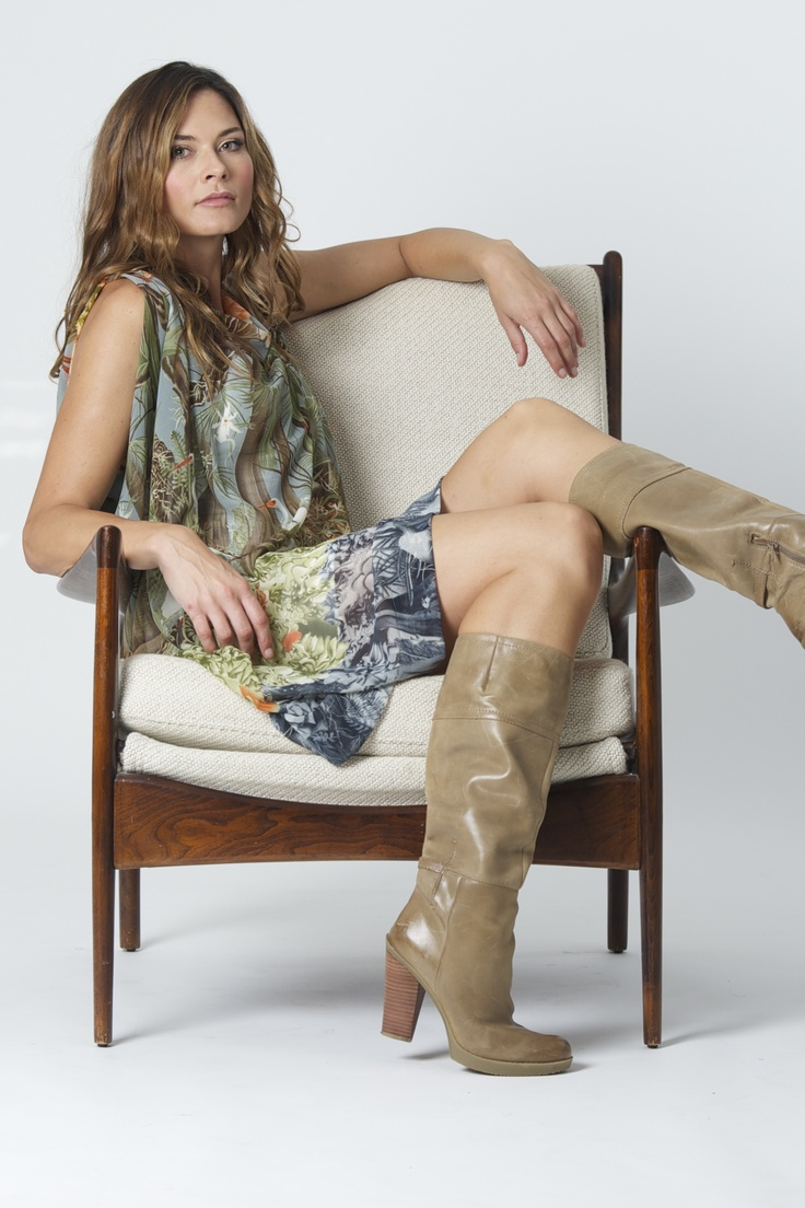 The Baztan in limited print. Paired with high boot. Transeasonal. Versatile. Flattering.  www.bazinc.com.au