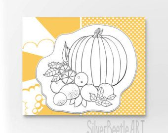 Kitchen Still Life Orange Print Coloring Diy Wall Decor Still Life Print Adult Coloring Printable Wall Diy Color Print Coloring Page - Edit Listing - Etsy