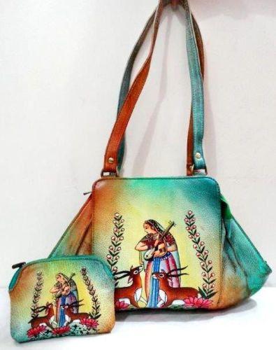 Exclusive Shantiniketan Handmade Handbag with Coin Purse Genuine Leather