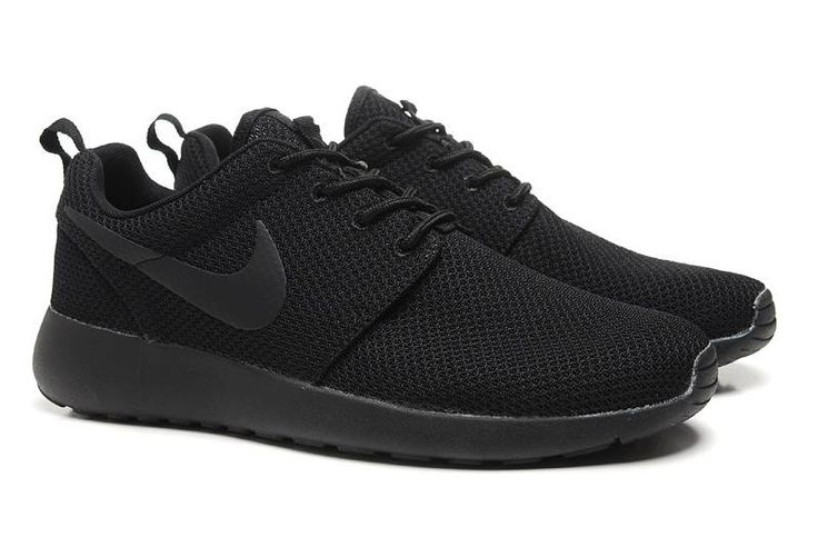 nike roshe run black mesh