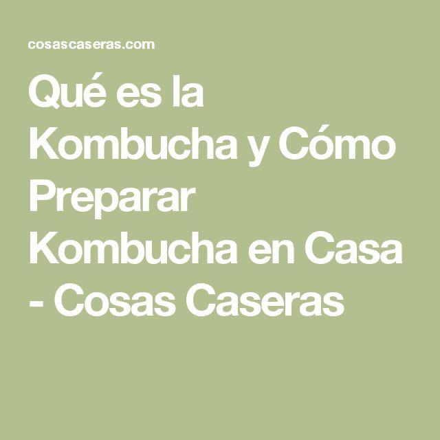 Qué es la Kombucha y Cómo Preparar Kombucha en Casa - Cosas Caseras