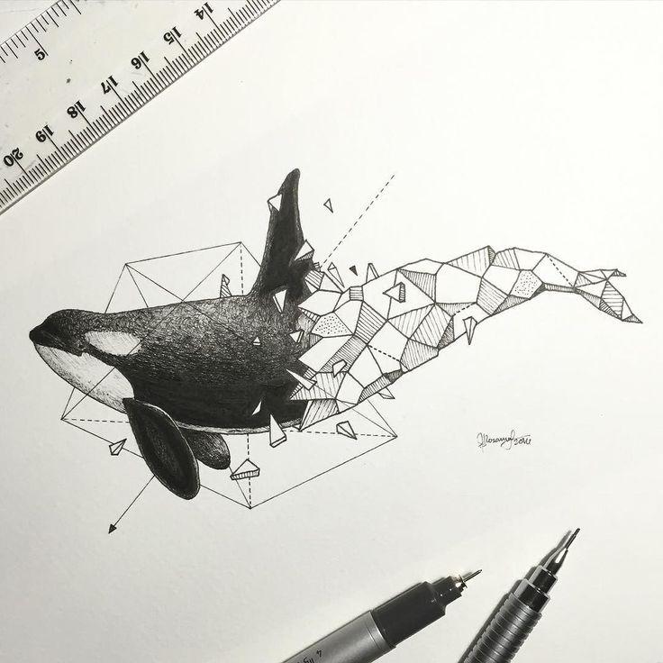 Geometric Beasts | Orca by kerbyrosanes