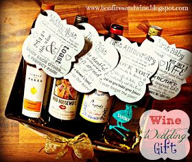 Wines for a marriage: wedding night, first fight, first anniversary, first baby with printables