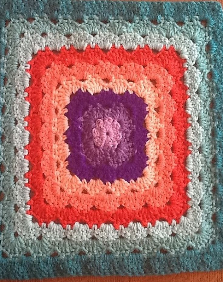Crochet Stitch Edc : Free Pattern] Shell Stitch Granny Square Variations Never Looked ...