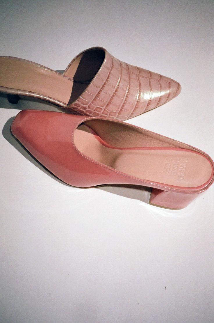 MARYAM NASSIR ZADEH | Maryam Mule - Pink Sparkle | Shoes ...