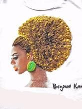 Beyonce T-shirt Queen Bey T shirt Natural Hair Curly Hair - Quortshirts