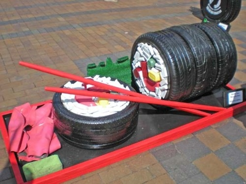 327 best recycled tires images on pinterest recycled for Old tire art