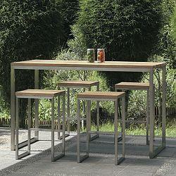 Mamagreen Oko Teak Outdoor Bistro Table, Bar, Height - HomeInfatuation.com.