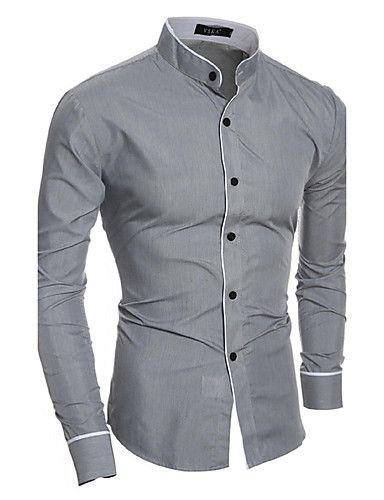 95e859750b Hombre Simple Casual Diario Para Todas las Temporadas Camisa