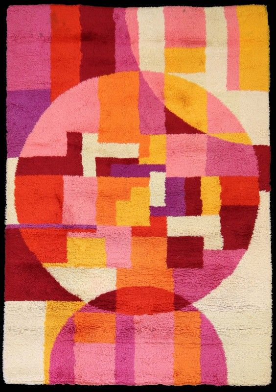 C. John - Rare Rugs - Heals Rug  Designed by John Freeman - 1960 - ArtDeco & Modernist Collection