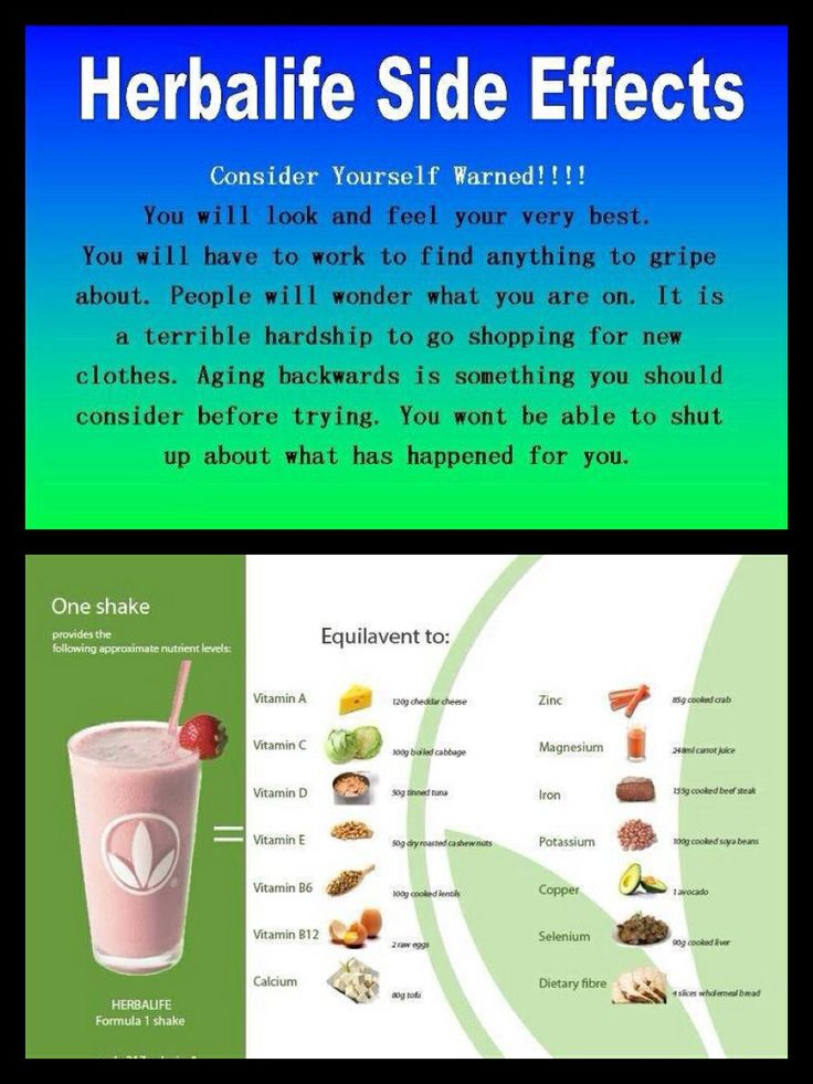 Hoping for these side affects!!! order herbalife today! text or email me! becky (918)633-4559 bbrownherbalife@outlook.com